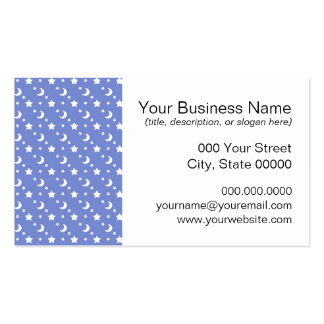 Little Stars and Moons Pattern on Blue Pack Of Standard Business Cards