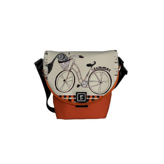 Little Summer Bicycle Messenger Bag