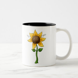 Little Sunflower Two-Tone Coffee Mug