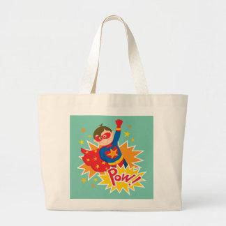 Little Superhero Large Tote Bag