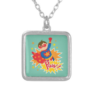 Little Superhero Silver Plated Necklace