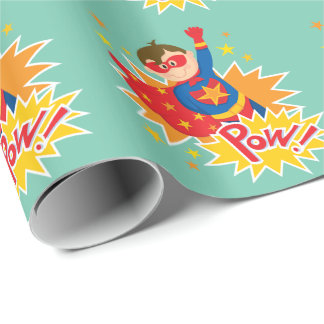 Little Superhero Wrapping Paper