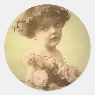Little Sweetheart Classic Round Sticker