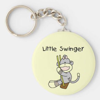 Little Swinger Tshirts and Gifts Basic Round Button Key Ring