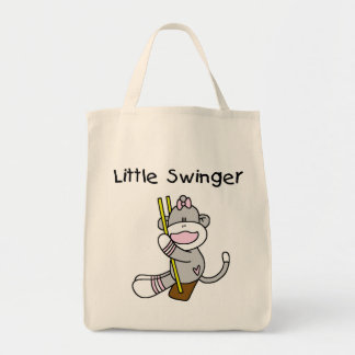 Little Swinger Tshirts and Gifts Grocery Tote Bag