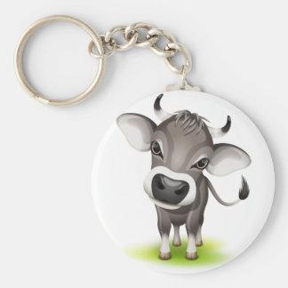 Little swiss cow key chain