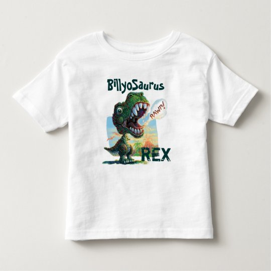 Little T Rex Painted Toddler T-Shirt