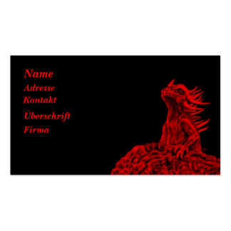 Little talk Dragon Pack Of Standard Business Cards