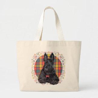 Little Tartan Scottie Dog Tote Bags