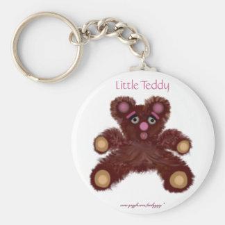 Little Teddy Basic Round Button Key Ring