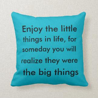 Little things, big things cushions