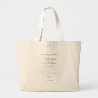 Little Things Mean So Much Large Tote Bag