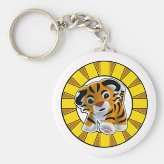 Little Tiger Basic Round Button Key Ring