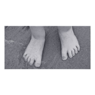 Little toes personalized photo card