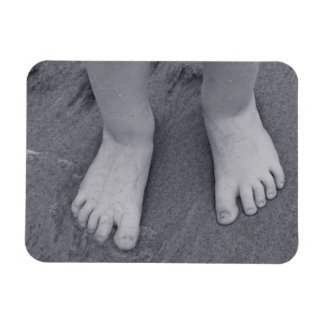 Little toes rectangle magnets