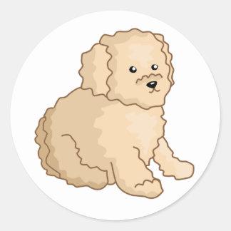 Little Toy Poodle Illustration Sticker