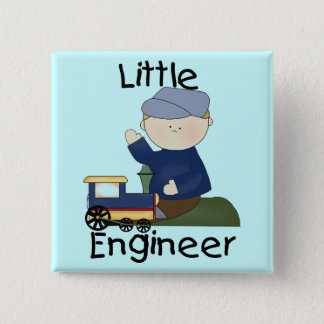 Little Train Engineer T-shirts and Gifts 15 Cm Square Badge