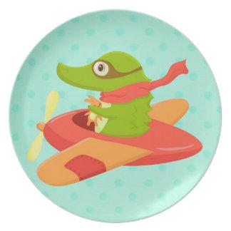 Little Travelers: Flying Crocodile plate