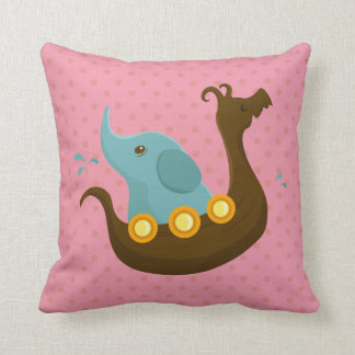 Little Travelers: Viking Elephant pillow