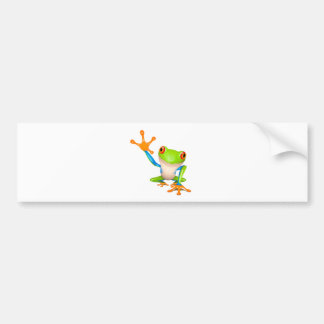 Little tree frog bumper sticker