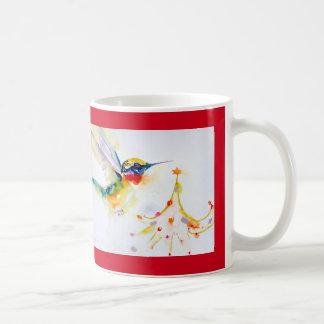"""Little Tree Trimmer"" Hummingbird Print Coffee Mug"