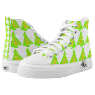 Little tree with a christmas tree artwork pattern high tops