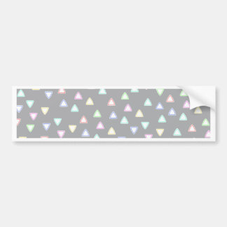 LITTLE TRIANGLE HILLS PATTERN IN PASTEL COLORS CAR BUMPER STICKER