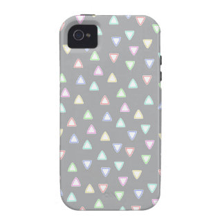 LITTLE TRIANGLE HILLS PATTERN IN PASTEL COLORS VIBE iPhone 4 COVERS