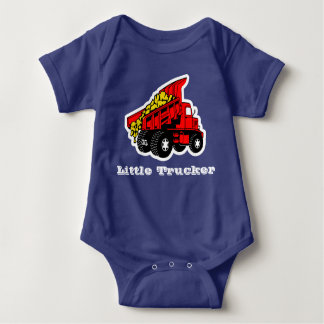Little Trucker red truck boys Baby Bodysuit