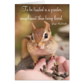 Little Trusting Chipmunk Card