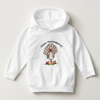 Little Turkey Happy Thanksgiving Toddler Pullover