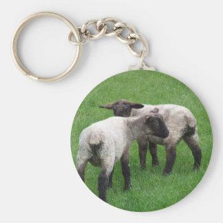 Little Twin Lambs Key Ring