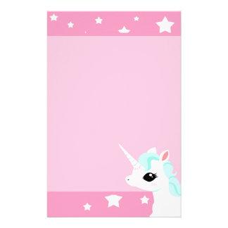 Little Unicorn blue mane stationary Stationery