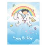 Little unicorn postcard