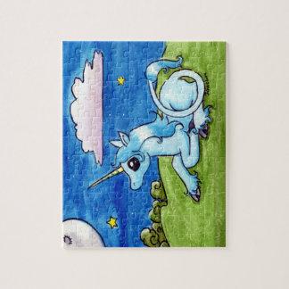 Little Unicorn Wishing on stars Jigsaw Puzzle