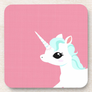 Little Unicorn with blue mane coaster