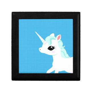Little Unicorn with blue mane gift box