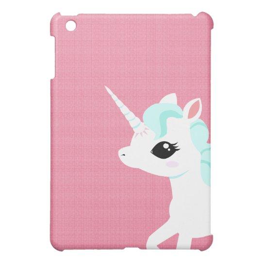 Little Unicorn with blue mane Ipad case