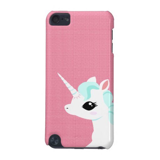 Little Unicorn with blue mane Ipod touch case