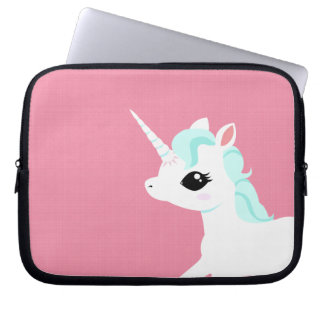 Little Unicorn with blue mane Laptop sleeve