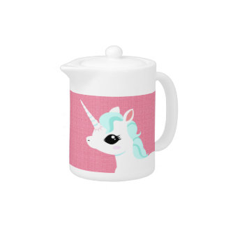 Little Unicorn with bluemane teapot