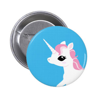 Little Unicorn with Pink mane button badge