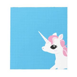 Little Unicorn with Pink mane notepad