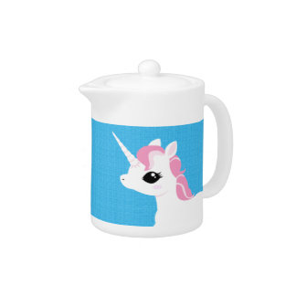 Little Unicorn with Pink mane teapot