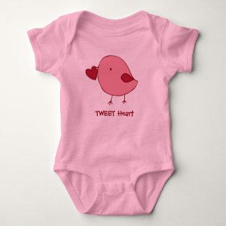 Little Valentine chick baby bodysuit