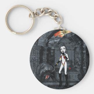 Little Vamp, Basic Round Button Key Ring
