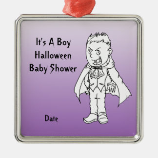 Little Vampire Halloween Baby Shower Ornaments