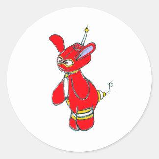 Little Vector Round Sticker