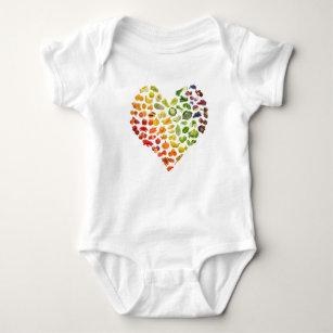 Little Vegan Baby Heart Shirt Dress