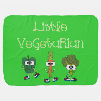 Little Vegetarian Swaddle Blankets